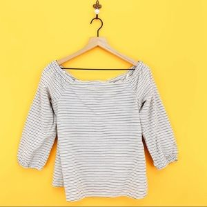 Madewell Jardin Striped Off The Shoulder Top M